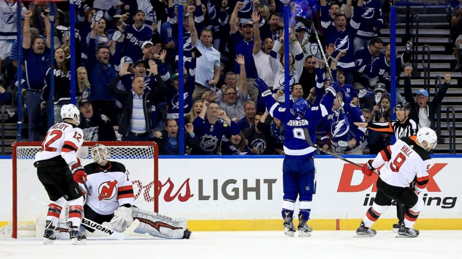 Tyler Johnson, Tampa Bay Lightning center, scores outstanding game winning goal in overtime against New Jersey Devils on 10/30/19!